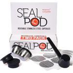 SealPod Reusable 2 Nespresso Capsule with 100 Lids