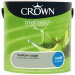 Wall Paint Crown Breatheasy Wall Paint, Ceiling Paint Green 2.5L