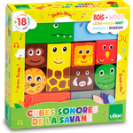 Wooden Blocks - Tiger Vilac Savanna Musical Blocks