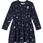 Sweatshirt Dresses - Cotton Children's Clothing ebbe Kids Pandora Dress - Mystic Sky (505211)