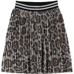 Pleated Skirts - Polyester Children's Clothing Molo Bailini - Silver Leopard (2S20D101 1841)