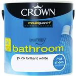 Crown Breatheasy Bathroom Wet Room Paint White 2.5L