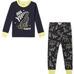 134/140 - Pyjamases Children's Clothing Hatley Glow in the Dark Wild Constellations Appliqué Pajama Set - Navy (F19ACK204)