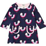 Ruffled Dresses - Long sleeve Children's Clothing Hatley Rainbow Birds Mod Dress - Navy (F19RBI1128)