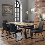 Julian Bowen Brooklyn 6 Soho Chairs 180cm Dining Set