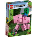 Cheap Lego Minecraft Lego Minecraft BigFig Pig with Baby Zombie 21157