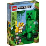 Cheap Lego Minecraft Lego Minecraft BigFig Creeper & Ocelot 21156
