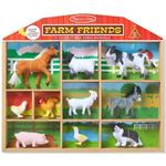 Toy Figures - Birds Melissa & Doug Farm Friends 10 Collectible Farm Animals