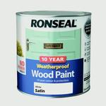 Wood Paint Ronseal 10 Year Weatherproof Wood Paint White 2.5L