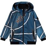 Removable hood - Soft Shell Jacket Children's Clothing Molo Cloudy - Blue Basket (5S20L101 6100)