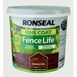 Wood Paint Ronseal One Coat Fence Life Wood Paint Brown 5L