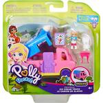 Cheap Doll Vehicles Mattel Polly Pocket Pollyville Ice Cream Truck