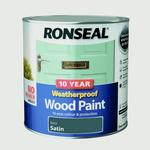 Wood Paint Ronseal 10 Year Weatherproof Wood Paint Grey 2.5L