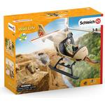 Play Set - Lion Schleich Animal Rescue Helicopter 42476