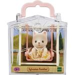 Dollhouse Accessories - Cats Sylvanian Families Baby Carry Case Cat on Swing