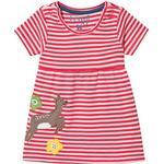 Everyday Dresses - 80/86 Children's Clothing Frugi Jade Jersey Dress - Watermelon Stripe/Deer (551873)