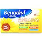 Fever Relief Benadryl One Day 10mg 30pcs