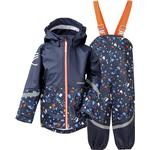 Fleece Lined - Rain set Children's Clothing Didriksons Waterman Printed Kid's Set - Navy Terazzo (503019-814)