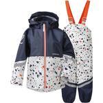 Unlined - Rain set Children's Clothing Didriksons Waterman Printed Kid's Set - Snow White Terazzo (503019-818)