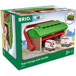 Train Accessories - Wood Brio Train Garage with Handle 33474