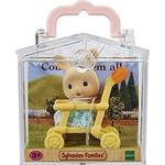 Dollhouse Accessories - Bunny Sylvanian Families Baby Carry Case Rabbit on Pushchair