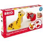 Building Games - Elephant Brio Magnetic Giraffe & Elephant 30284