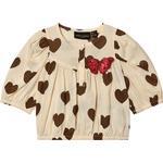 Blouses & Tunics - Buttons Children's Clothing Mini Rodini Hearts Blouse - Offwhite (2022010311)