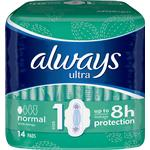 With Wings - Menstrual Pads Always Ultra Normal 14-pack