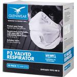 Multiple-use - Face Masks Glenwear FFP3 Valved Respirator 10-pack