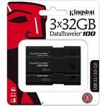Kingston USB 3.0 DataTraveler 100 G3 32GB (3-pack)