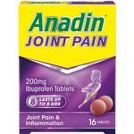 Painkillers Anadin 200mg 16pcs