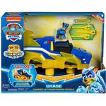 Lights - Car Spin Master Paw Patrol Mighty Pups Charged Up Chase's Charged Up Deluxe Vehicle