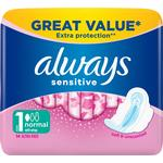 With Wings - Menstrual Pads Always Sensitive Normal Ultra 14-pack