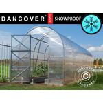 Freestanding Greenhouses - Round Dancover Duo 4m² Stainless steel Polycarbonate