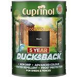 Paint Cuprinol 5 Year Ducksback Wood Protection Black 9L