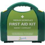 First Aid 2Work BSI First Aid Kit Medium