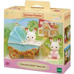 Animals - Dollhouse Accessories Sylvanian Families Chocolate Rabbit Twins Set