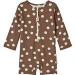 Long sleeve - UV Suit Children's Clothing Kuling Paros Dot UV Suit - Chocolate Brown