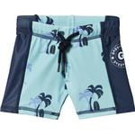 UV Pants - Elastan Children's Clothing Geggamoja Palmbeach UV Short Pant - Blue (100320122)