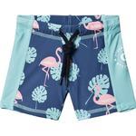Girl - UV Pants Children's Clothing Geggamoja Flamingo UV Short Pant - Blue (100320121)