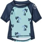Geggamoja Palmbeach UV Short Sleeved Sweather - Blue (99720122)