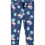 Girl - UV Pants Children's Clothing Geggamoja Flamingo UV Long Pant - Blue (99820121)
