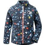 Insulating Function - Fleece Jacket Children's Clothing Didriksons Kid's Monte Printed Jacket - Navy Terazzo (502946-814)
