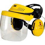 Yellow - Forestry Helmet 3M Peltor G500 Headgear with Visor