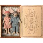 Soft Toys - Mouse Maileg Mum & Dad Mice in Cigar Box