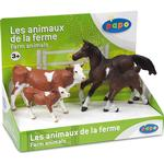 Figurines - Cow Papo Display Box Farm Animals 80301