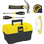 Toy Tools - Metal Stanley Jr 5 Piece Tool Set & Kid's Toolbox