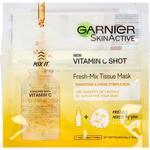 Sheet Mask - Vitamins Garnier SkinActive Vitamin C Shot Fresh-Mix Tissue Mask