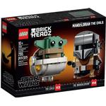 Plasti - Lego BrickHeadz Lego Brick Headz The Mandalorian & the Child 75317