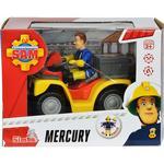 Toy Quad Bike Simba Fireman Sam Vehicle Quad Bike Mercury with Character Sam